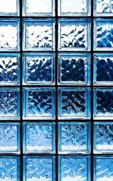 Free Blue Glass Squares Texture Stock Image - 36674991