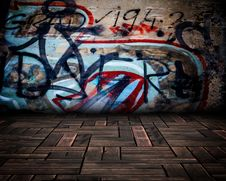 Free Urban Stage Graffiti Room Stock Image - 36675801