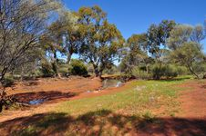 Free Australian Outback Water Hole Royalty Free Stock Photography - 36676417