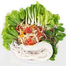 Free Papaya Salad In Thai Style Stock Images - 36678244