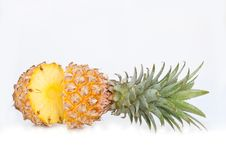 Free Half Sliced Ananas Royalty Free Stock Photo - 36678315