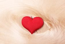 Free Red Heart On A Light Wooden Background Stock Photo - 36679060