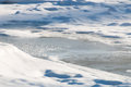 Free The Frozen River With Ice And Hoarfrost Close-up Royalty Free Stock Photos - 36680778