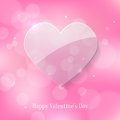 Free Glass Heart On Pink Bokeh Background Stock Photography - 36681752