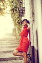Free Beautiful Woman In Urban Background. Vintage Style Royalty Free Stock Photos - 36687778