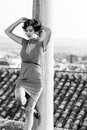 Free Beautiful Woman In Urban Background. Vintage Style Stock Photography - 36687832