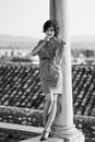Free Beautiful Woman In Urban Background. Vintage Style Royalty Free Stock Images - 36687869