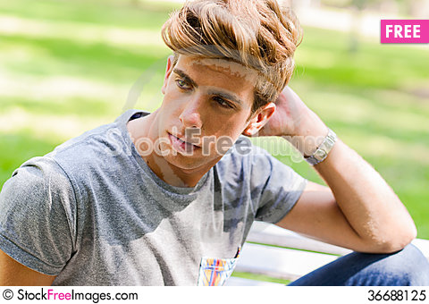 Free Attractive Young Handsome Man, Model Of Fashion In Urban Backgro Royalty Free Stock Photo - 36688125