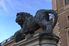 Sculpture Of Lion Royalty Free Stock Photo