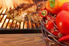 Summer Picnic And BBQ Grill Royalty Free Stock Photo