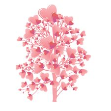 Free Valentine S Day Tree Royalty Free Stock Photo - 36683695