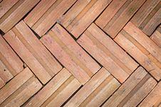 Brick Floors Background Stock Photo