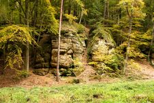 Free Rocks In The Forest Royalty Free Stock Photography - 36684737