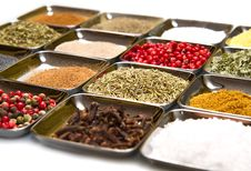 Spices In Box Stock Image