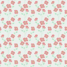 Seamless Texture With Poppies Stock Images