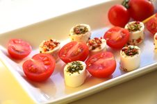 Free Cream Cheese With Tomato Royalty Free Stock Image - 36686896