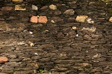 Texture - Ancient Stone Wall - 18th Century Royalty Free Stock Photos