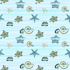 Free Seamless Marine Texture Royalty Free Stock Image - 36687276