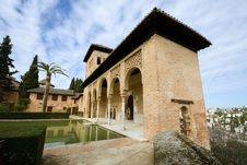 Free The Partal Gardens Of Alhambra In Granada Stock Photos - 36687483