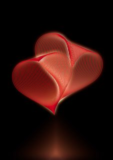 Free Glowing Hearts Royalty Free Stock Photo - 36688745