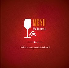 Free Wine Menu Cover Design For Restaurants Stock Images - 36689014