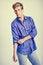 Free Handsome Blonde Man Wearing Shirt Royalty Free Stock Image - 36688546