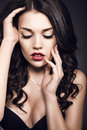 Free Portrait Of Beautiful Girl With Dark Hair Royalty Free Stock Photo - 36698645