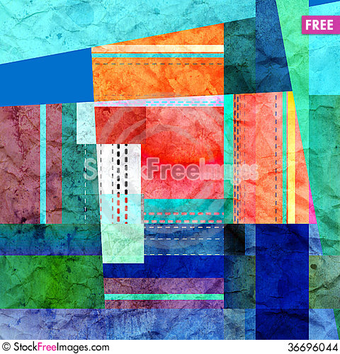 Free Abstract Colorful Geometric Texture Stock Images - 36696044