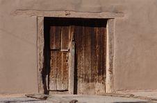 Free Old Adobe Wooden Door Stock Images - 36691304