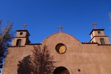 Free Old Adobe Church Front Stock Photography - 36691332