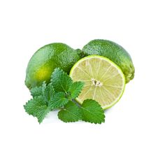 Free Fresh Lime With Mint Leaf Royalty Free Stock Image - 36691456