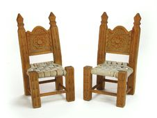 Free Pair Miniature Chairs Royalty Free Stock Photos - 36691458