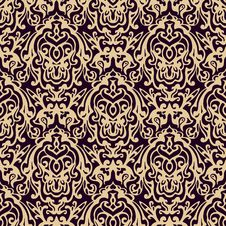 Free Damask Seamless Vector Pattern Luxury Stock Image - 36691731