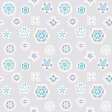 Free Seamless Winter Background With Snowflakes Stock Photography - 36691742