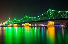 Free Illuminated Bridge Stock Photos - 36692713