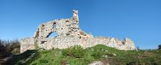 Ruins Of Of An Ancient Fortress On A Plateau Mangup Kale. Ukraine, Crimea Royalty Free Stock Photo