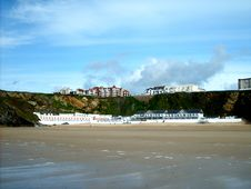 Free The Beach From Newquay Royalty Free Stock Photos - 36694058