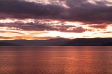 SunSet Over Lake Okanagan Royalty Free Stock Photography