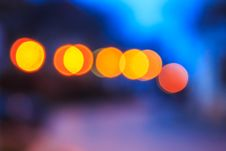Free Abstract Background Of Blurred Lights With Bokeh Effect Royalty Free Stock Photos - 36696238