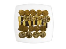Sweet Cookies On A Plate Stock Photo