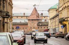 Street View Of Lviv With Armory, Ukraine Stock Image