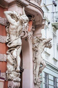 Architectural Details Of Lvov Lviv, Ukraine Royalty Free Stock Image
