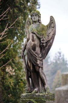 Free Sad Angel On The Grave Stock Images - 36697324