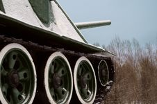 Free Tank In Snow Stock Image - 36697481