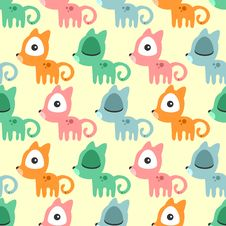 Free Seamless Pattern With Cute Kittens Stock Photography - 36697832