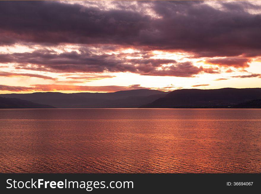 SunSet over Lake Okanagan