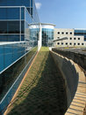 Free Office Building Glass Exterior Extreme Side 1 Royalty Free Stock Image - 3670506