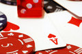 Free Poker Chips Cards And Dice Background Royalty Free Stock Photos - 3676438