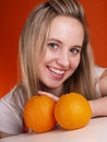 Free Girl With Oranges Royalty Free Stock Photography - 3676497
