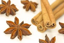 Free Cinnamon Sticks And Anise Stars Stock Photo - 3671380